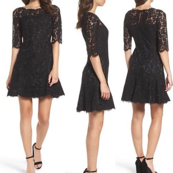 Eliza J Floral Lace Fit & Flare Dress Lightweighht
